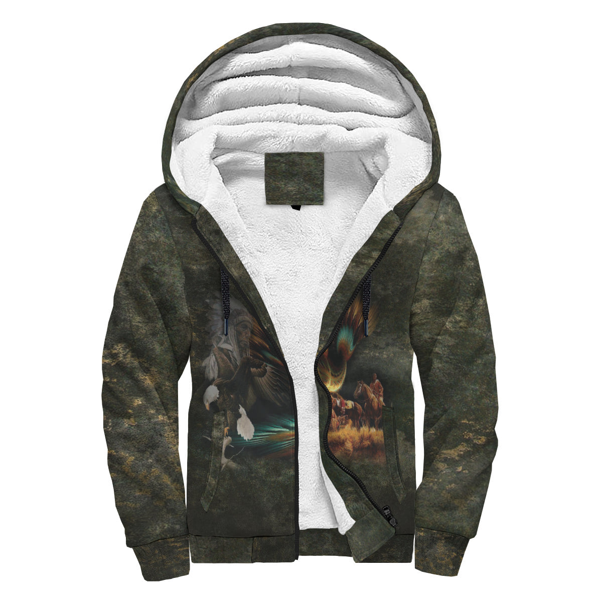 regard heaven as your father...Sherpa Hoodie