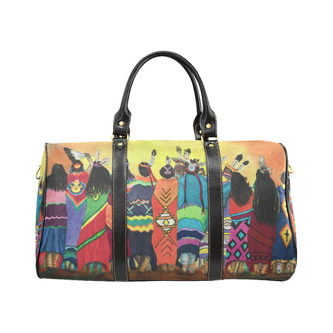 Pow Wow Blanket Dancers travel bag Travel Bags Bag, Bags, native, Native America, Native American, travel bag- Nichefamily.com