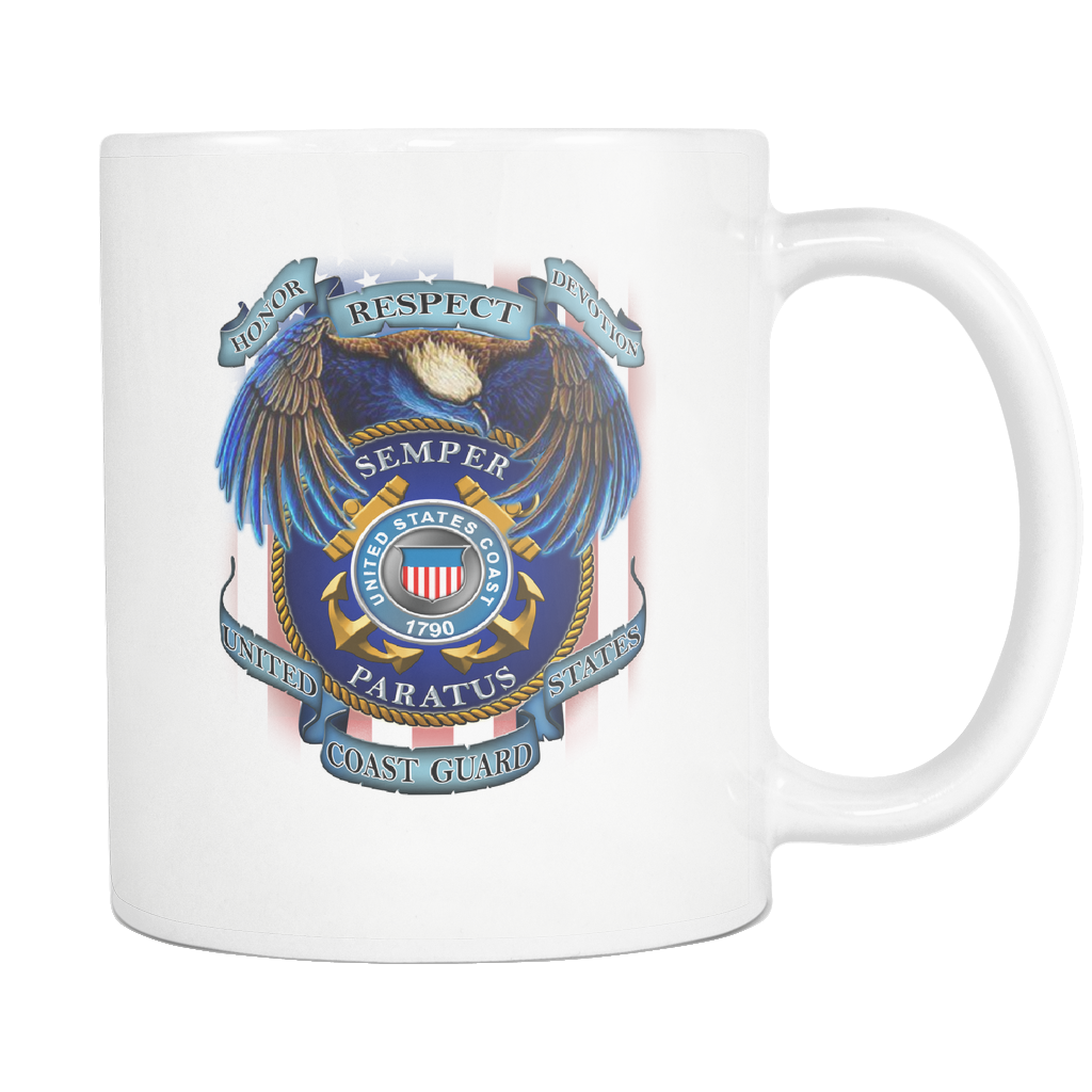 Buy HONOR RESPECT DEVOTION SEMPER PARATUS UNITED STATES COAST GUARD MUG - Familyloves hoodies t-shirt jacket mug cheapest free shipping 50% off
