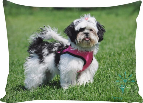 Shih tzu dog pillow Pillow Cases carthook_checkout, RageOn Connect, rspid8475790664- Nichefamily.com