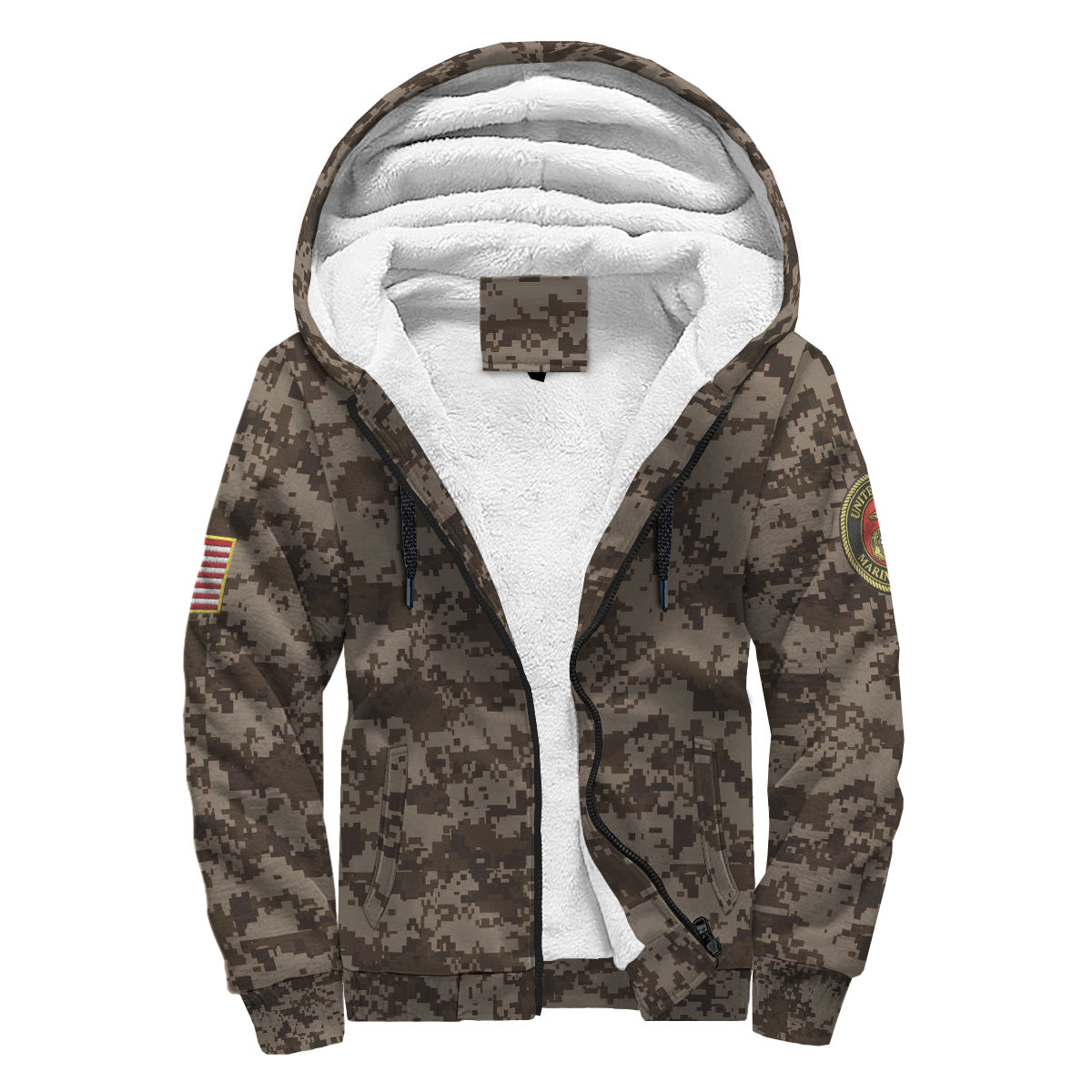 on the 7th day god created the marine sherpa hoodie