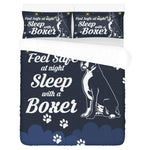 feel safe at night sleep with a boxer Bedding Set carthook_checkout, dog, dog owner, dog pillow, DOGS, duvet&fillow- Nichefamily.com