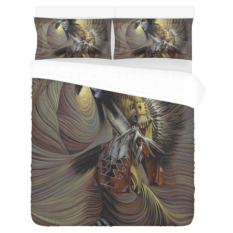 NATIVE AMERICAN INDIAN ARTISTS 3-Piece Bedding Set 1 Duvet Cover 2 Pillowcases Bedding Set bedding, carthook_checkout, native, Native America, Native American- Nichefamily.com