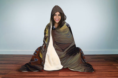 NATIVE AMERICAN INDIAN ARTISTS HOODED BLANKET