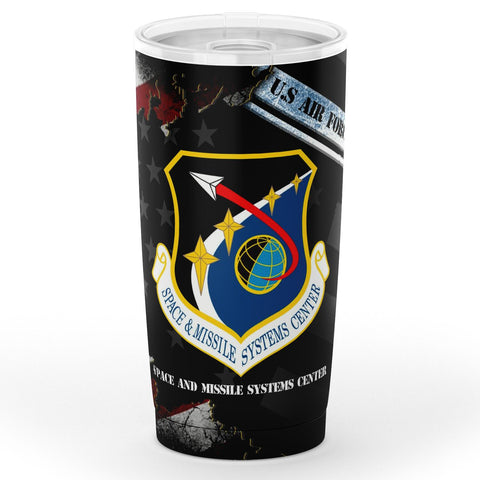 United States  Space and Missile Systems Center Tumbler 20oz Tumbler - AOP air force, military, tumbler, veteran- Nichefamily.com