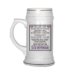 U.S VETERAN Beer Stein Drinkware carthook_checkout- Nichefamily.com