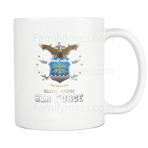 MCMXLVII - U.S. AIR FORCE MUG Drinkware air force, carthook_airjacket, carthook_checkout, meta-related-collection-veterans, MILITARY, MUGS- Nichefamily.com