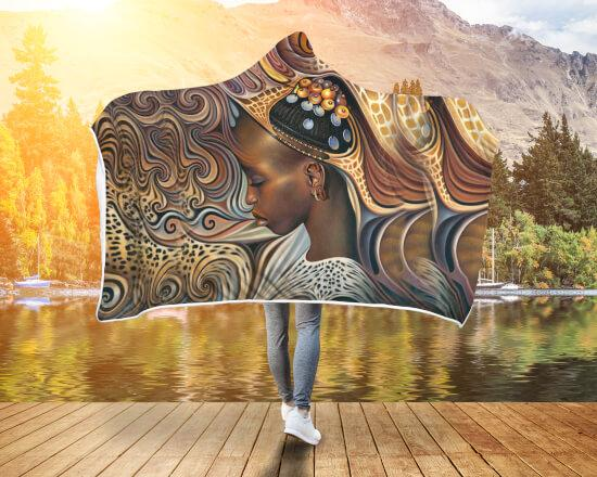 Buy BLACK ART AMERICAN NATIVE HOODED BLANKET - Familyloves hoodies t-shirt jacket mug cheapest free shipping 50% off