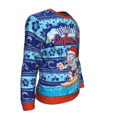 Buy Jingle Bells Surfing Swells UGLY CHRISTMAS SWEATER - Familyloves hoodies t-shirt jacket mug cheapest free shipping 50% off