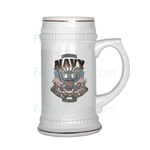 NAVY SINCE 1775 BEER STEIN Drinkware beer stein, carthook_checkout, carthook_navy, meta-relate-collection-u-s-navy-seals, navy seals, veteran- Nichefamily.com