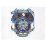 HONOR RESPECT DEVOTION SEMPER PARATUS UNITED STATES COAST GUARD Fleece Blanket Blankets carthook_checkout, Fleece Blanket, meta-related-collection-army, MILITARY, veteran- Nichefamily.com
