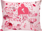 Husband & wife - best friends for life pillow Pillow Cases bed sheet, carthook_checkout, pillow, RageOn Connect- Nichefamily.com
