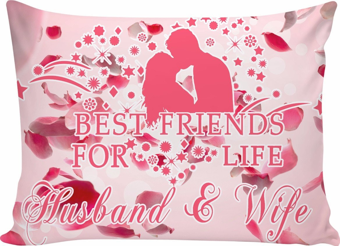 Husband & wife - best friends for life pillow