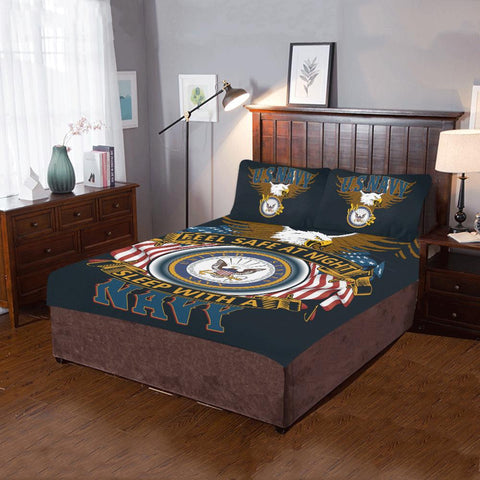 DUVET COVER AND PILLOWCASES FEEL SAFE AT NIGHT SLEEP WITH A NAVY Bedding Set carthook_checkout, carthook_navy, carthook_vietnam, duvet&fillow, meta-relate-collection-u-s-navy-seals, navy, nav