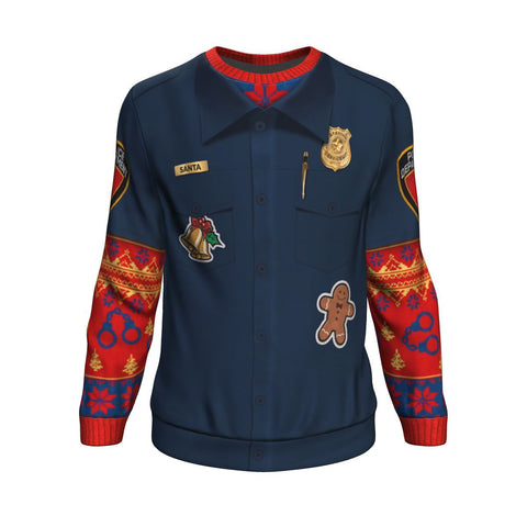 Police Navidad UGLY CHRISTMAS SWEATER Sweatshirt carthook_checkout, uglysweater- Nichefamily.com