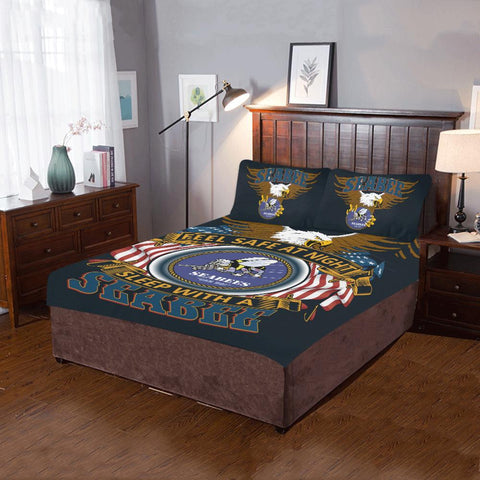DUVET COVER AND PILLOWCASES FEEL SAFE AT NIGHT SLEEP WITH A SEABEE Bedding Set carthook_checkout, carthook_navy, duvet&fillow, meta-relate-collection-u-s-navy-seals, navy, navy seals- Nichefa