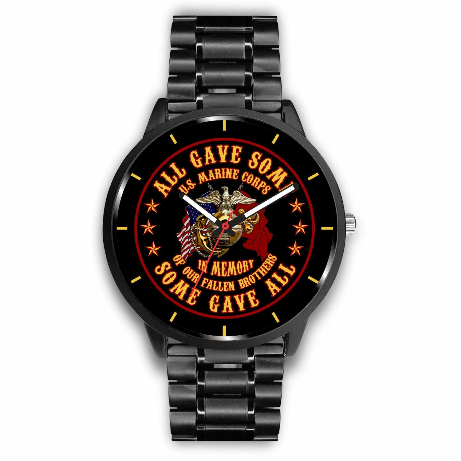 Buy U.S MARINE CORPS ALL GAVE SOME SOME GAVE ALL VETERAN WATCH - Familyloves hoodies t-shirt jacket mug cheapest free shipping 50% off