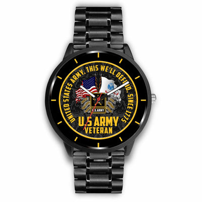 UNITED STATES ARMY, VETERAN, THIS WE'LL DEFEND, SINCE 1775 WATCH