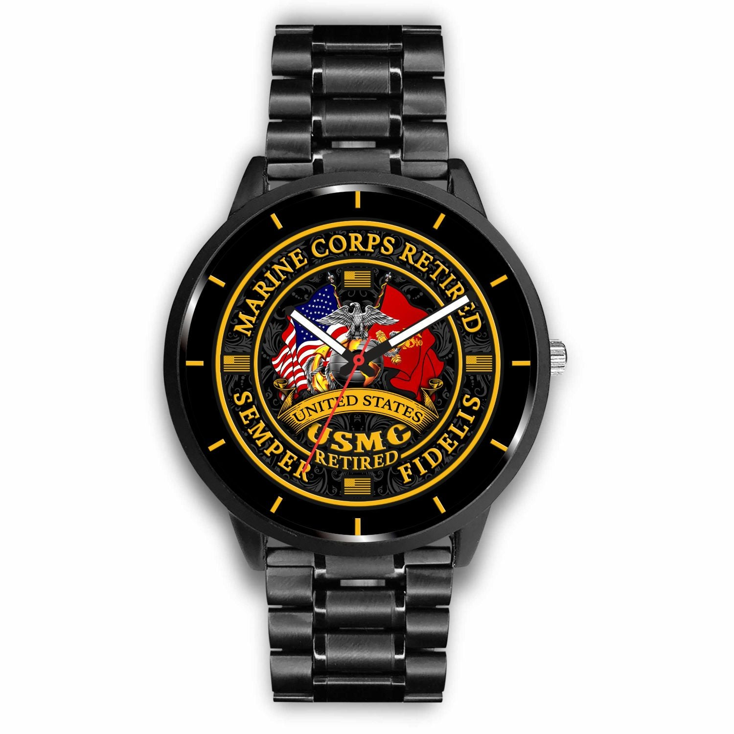 Buy UNITED STATES RETIRED SEMPER FIDELIS MARINE RETIRED WATCH - Familyloves hoodies t-shirt jacket mug cheapest free shipping 50% off