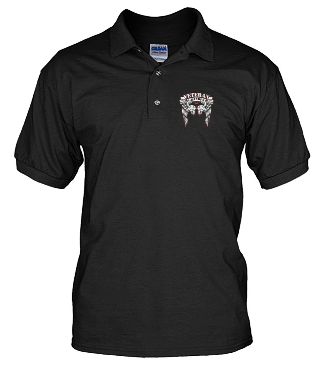 Veteran grandpa i risked my life men's polo shirt