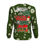 watch out santa here comes grandpa ugly christmas sweater Sweatshirt carthook_checkout, christmas sweatshirt, grandfather, uglysweater- Nichefamily.com