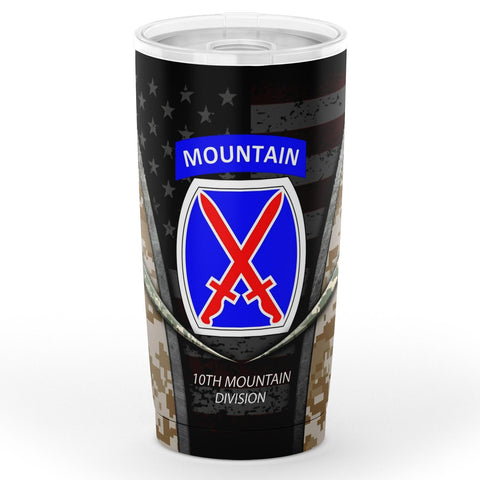 United States Army 10th Mountain Division Tumbler 20oz Tumbler - AOP military, tumbler, us army, veteran- Nichefamily.com