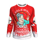 i solemnly swear to be the best grandma i can be UGLY CHRISTMAS SWEATER Sweatshirt carthook_checkout, GRANDMA, uglysweater- Nichefamily.com