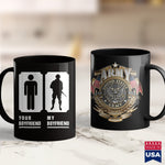 Air Force Coffee Cups My Boyfriend Is In Army Tee Military Proud Girlfriend  Army Ranger Apparel 11Oz 15Oz Coffee Mug Drinkware Army Aviation, Army Bct, Army Bed, Army Gear, Army Mom, Army On