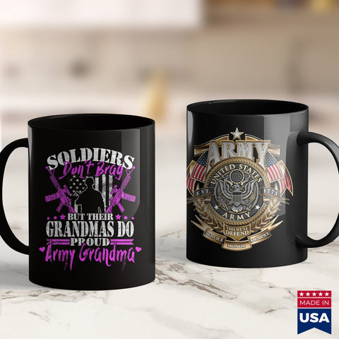 American Coffee Mugs Proud Army Grandma Soldiers Dont Brag  Grandmother Gift  Customize Army Shirts 11Oz 15Oz Coffee Mug Drinkware Army Acu, Army Aviation, Army Bed, Army Caps, Army Eod, Army