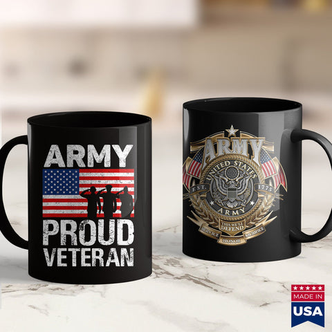 Army Aviation Military Gift Red White Blue Flag Proud Army Veteran  Army Shirt 11Oz 15Oz Coffee Mug Drinkware Army Bct, Army Bdu, Army Gifts, Army Insignia, Army Medals, Army Officer Insignia