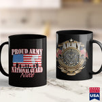 Army Badge Proud Army National Guard Niece Dog Tag Flag  Women Womens Air Force Shirts 11Oz 15Oz Coffee Mug Drinkware Argo Tea, Army Apparel, Army Bct, Army Coin Holder, Army Medals, Army Mer
