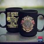 Army Bdu My Nephew Has Your Back  Proud Army Uncle Military Family  Navy Shirts 11Oz 15Oz Coffee Mug Drinkware Army Apparel, Army Bct, Army Bmi, Army Coin Holder, Army Commendation Medal, Arm