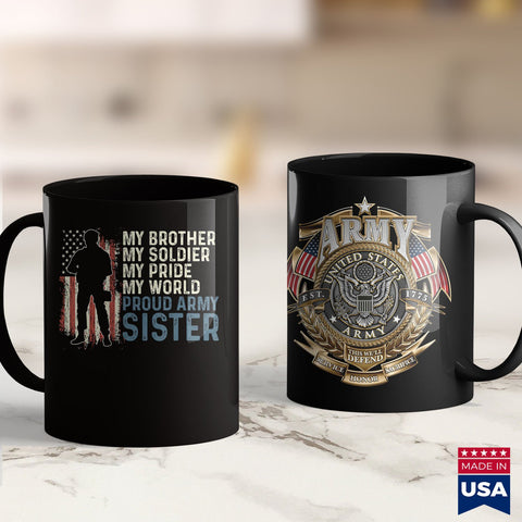 Army Blanket My Brother My Soldier Hero Proud Army Sister Women  Mens Military Shirt 11Oz 15Oz Coffee Mug Drinkware Army Bmi, Army Car, Army Coffee Mugs, Army Commendation Medal, Army Enliste