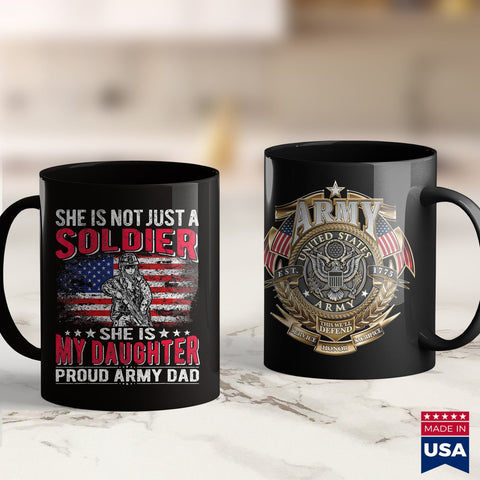 Army Caps Mens She Is Not Just A Solider She Is My Daughter Proud Army Dad  Army Wife Shirts 11Oz 15Oz Coffee Mug Drinkware Army Abu, Army Car, Army Fabric, Army License Plate, Army Medals, A