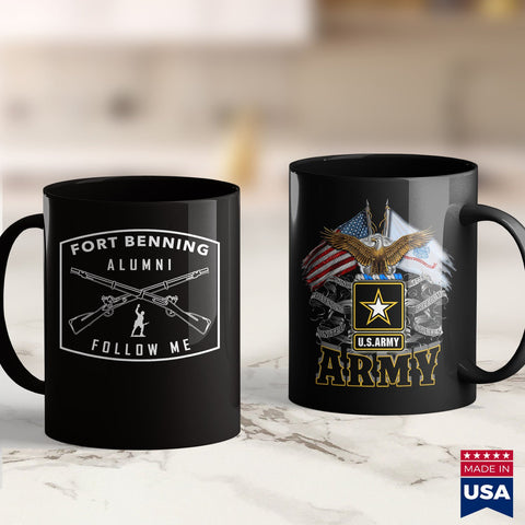 Army Challenge Coin Us Army Infantry  Fort Benning Alumni  Army Green Shirts For Mens 11Oz 15Oz Coffee Mug Drinkware Argo Tea, Army Ako, Army Clothing, Army Dad, Army Gifts, Army Navy, Army P