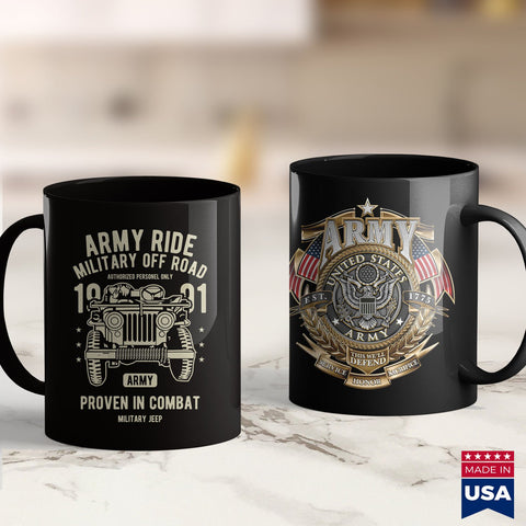 Army Clothing Mens Army Ride Military Off Road  Army Hoodies 11Oz 15Oz Coffee Mug Drinkware Air Force Coffee Mug, Army Dad, Army License Plate, Army Lighter, Army Mom, Army Mug, Army Prt, Nav