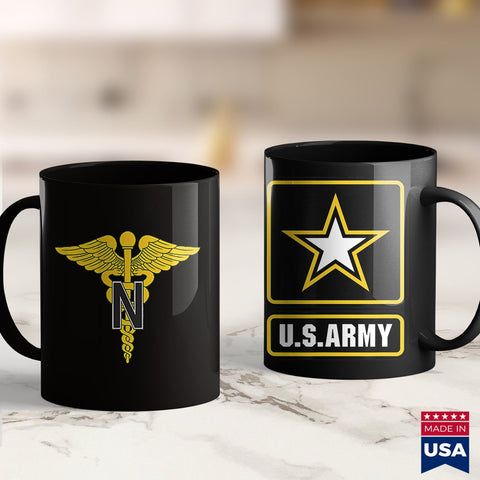 Army Fabric Army Nurse Corps  Army Clothing Store 11Oz 15Oz Coffee Mug Drinkware Army Badge, Army Challenge Coin, Army Frg, Army Guy, Army Job, Army Mod, Army Mug, Army Rings, Army Tumbler Cu