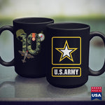 Army Flag 10Th Birthday Camouflage Hero Army Soldier  Army Navy Store 11Oz 15Oz Coffee Mug Drinkware Army Challenge Coin, Army Frg, Army Job, Army Mod, Army Mug, Army Stuff, Army War, Militar