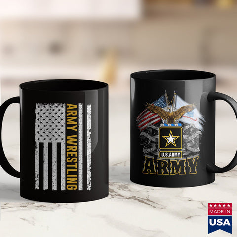 Army Frg Vintage Usa American Flag Army Wrestling  Mom Army Shirts 11Oz 15Oz Coffee Mug Drinkware Army Acu, Army Badge, Army Challenge Coin, Army Cups, Army Gear, Army Guy, Army Mod, Army Mos