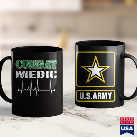 Army Gifts Combat Medic Us Army Veteran Military Style Heartbeat Gift  Green Army Shirt Womens 11Oz 15Oz Coffee Mug Drinkware Arab Tea, Army Erb, Army Officer Insignia, Army Pen, Army Pft, Ar