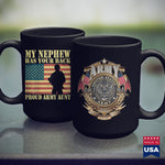 Army Military Police My Nephew Has Your Back Proud Army Aunt Military Auntie Gift  Army Green Shirt 11Oz 15Oz Coffee Mug Drinkware Air Force Coffee Cups, Army Abu, Army Badge, Army Bdu, Army
