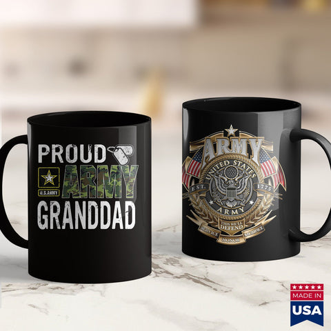 Army Mod Proud Us Army Granddad  Marine Corps T Shirts 11Oz 15Oz Coffee Mug Drinkware Arab Men, Arai Gp6, Army Blanket, Army Commendation Medal, Army Pcs, Army Pen, Army T Shirts, Man Mug, Mi