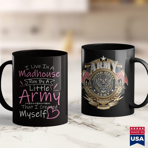 Army Nco I Live In A Madhouse Run By A Little Army  Military Apparel 11Oz 15Oz Coffee Mug Drinkware Arai Gp6, Army Bdu, Army Infantry, Army Military Police, Army Pjs, Army Soldier, Army Tumbl