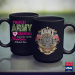 Army Nvg Proud Army Grandma White  Military T Shirt Design 11Oz 15Oz Coffee Mug Drinkware Army Challenge Coin, Army Clothing, Army Cups, Army Medals, Army Merchandise, Army Prt, Army Soldier,