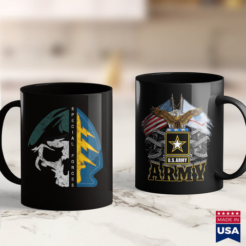 Army Pay Vintage Army Special Forces Green Beret Skull Patch Oda Tee  Army Store 11Oz 15Oz Coffee Mug Drinkware Army Ako, Army Cups, Army Gear, Army Hats, Army Rank, Army Soldier, Army Stuff,