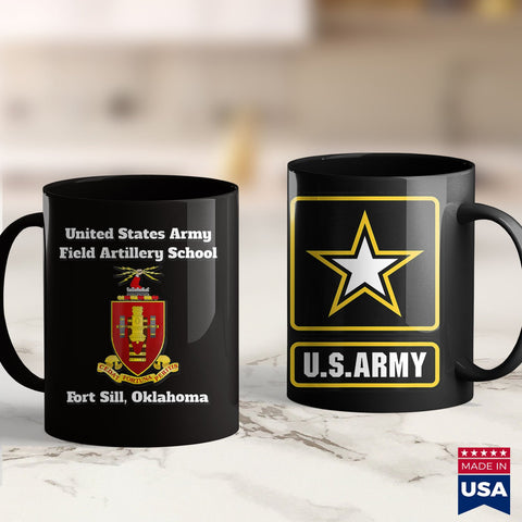 Army Posters Army Field Artillery School Coa Fort Sill Oklahoma  Military Tee Shirts 11Oz 15Oz Coffee Mug Drinkware 1St Army, Army Ako, Army Net, Army One, Army Sweat, Army Sweatpants, Army S