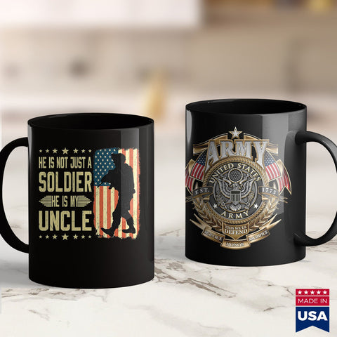 Army Rank My Uncle Is A Soldier Hero Proud Army Nephew Niece Military  Marines Pt Shirt 11Oz 15Oz Coffee Mug Drinkware American Coffee Mugs, Army Guy, Army Pins, Army Recruiting, Army Uniform