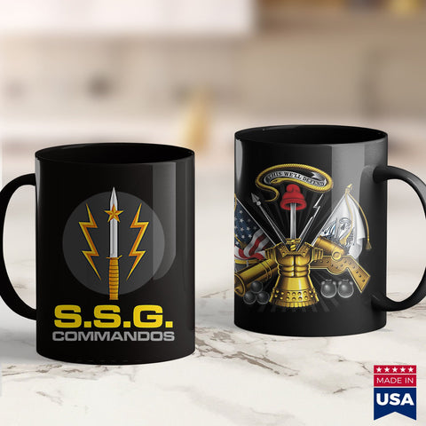 Army Ribbons Ssg Commandos Pakistan Army Special Forces  Army Gear 11Oz 15Oz Coffee Mug Drinkware Air Force Coffee Cups, American Coffee Mugs, Army Erb, Army Hoodie, Army Suit, Army Tank Top,