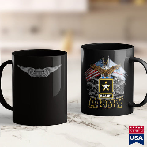 Army Rings U.S. Army Aviator Badge  Vintage Veteran Tee Marine Corps Shirts 11Oz 15Oz Coffee Mug Drinkware Air Force Coffee Cups, American Coffee Mugs, Army Coin Holder, Army Guy, Army Poster