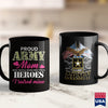 Army Sweatshirts Womens Proud Army Mom  Hero Army  Army Combat Shirt 11Oz 15Oz Coffee Mug Drinkware Arab Tee, Army Apparel, Army Badge, Army Bdu, Army Car, Army Coins, Army Rank, Army Tag, Ma
